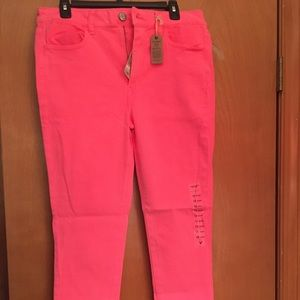 American eagle hot pink high rise jegging size 12